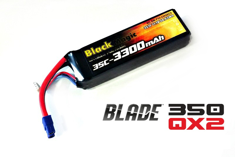 Аккумулятор Black Magic Li-Po 11.1V (3S) 3300  mAh 25C (Blade 350 QX2. QX3) от Рокет Маркет